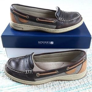 Sperry Top Sider Pennyfish Tan Bear Boat Loafers